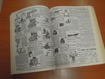 19世紀末アメリカの通販カタログ(写真2の左側も同様)