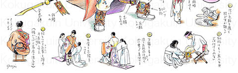 舞人の着装(そのまま着装マニュアルになりそう!)