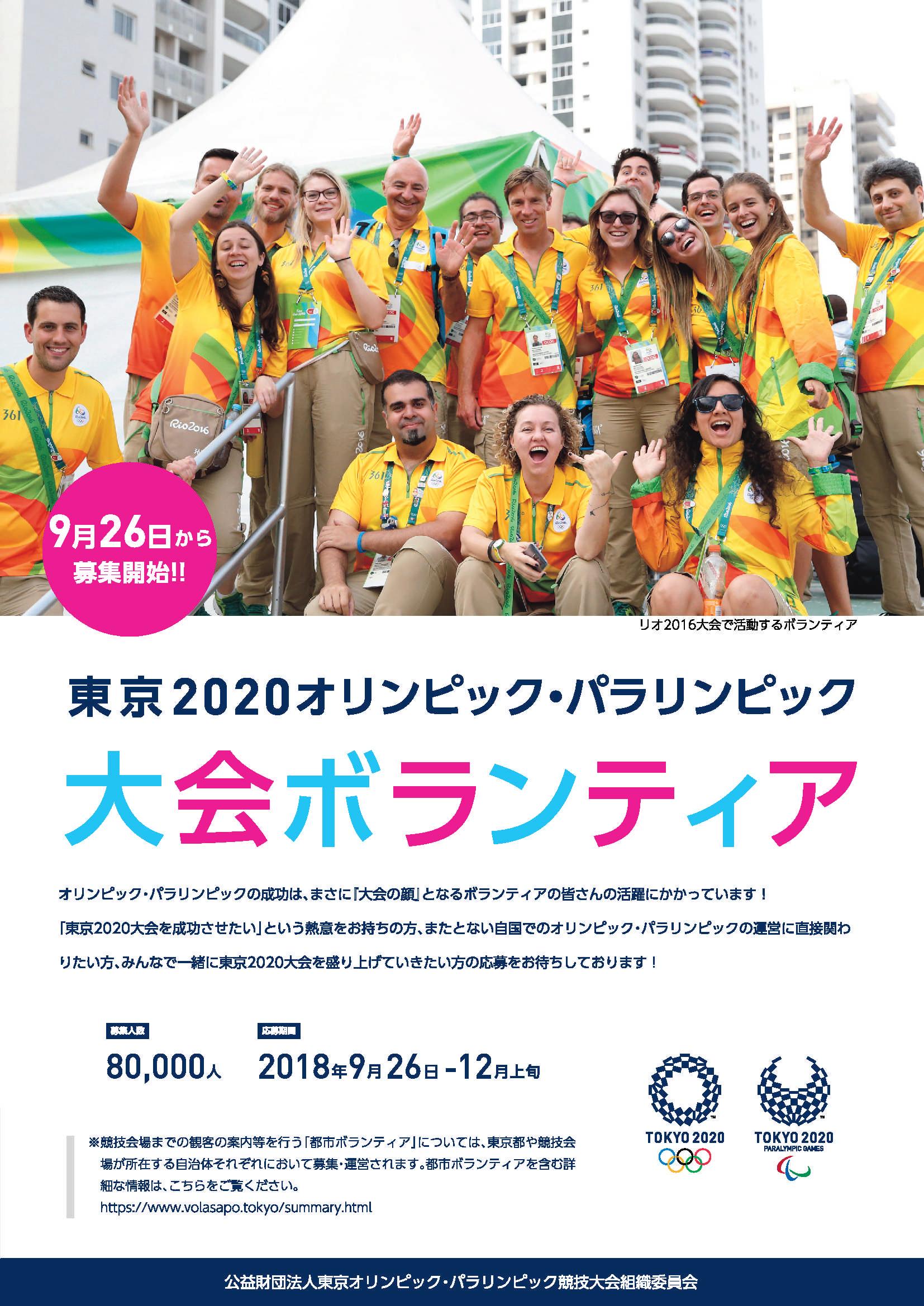 TOKYO202ボランティア募集ちらし