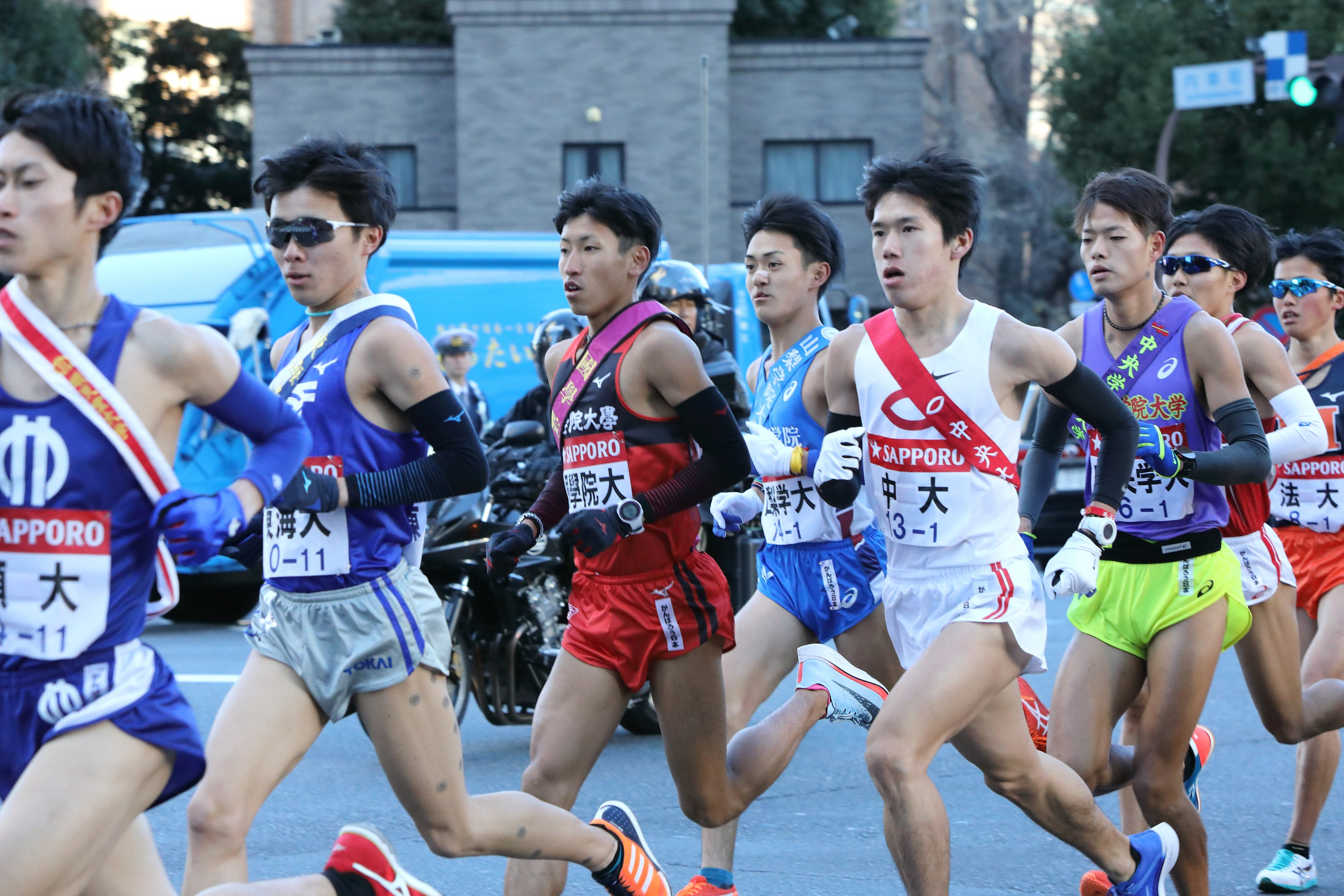 今年の箱根駅伝で力走する浦野選手