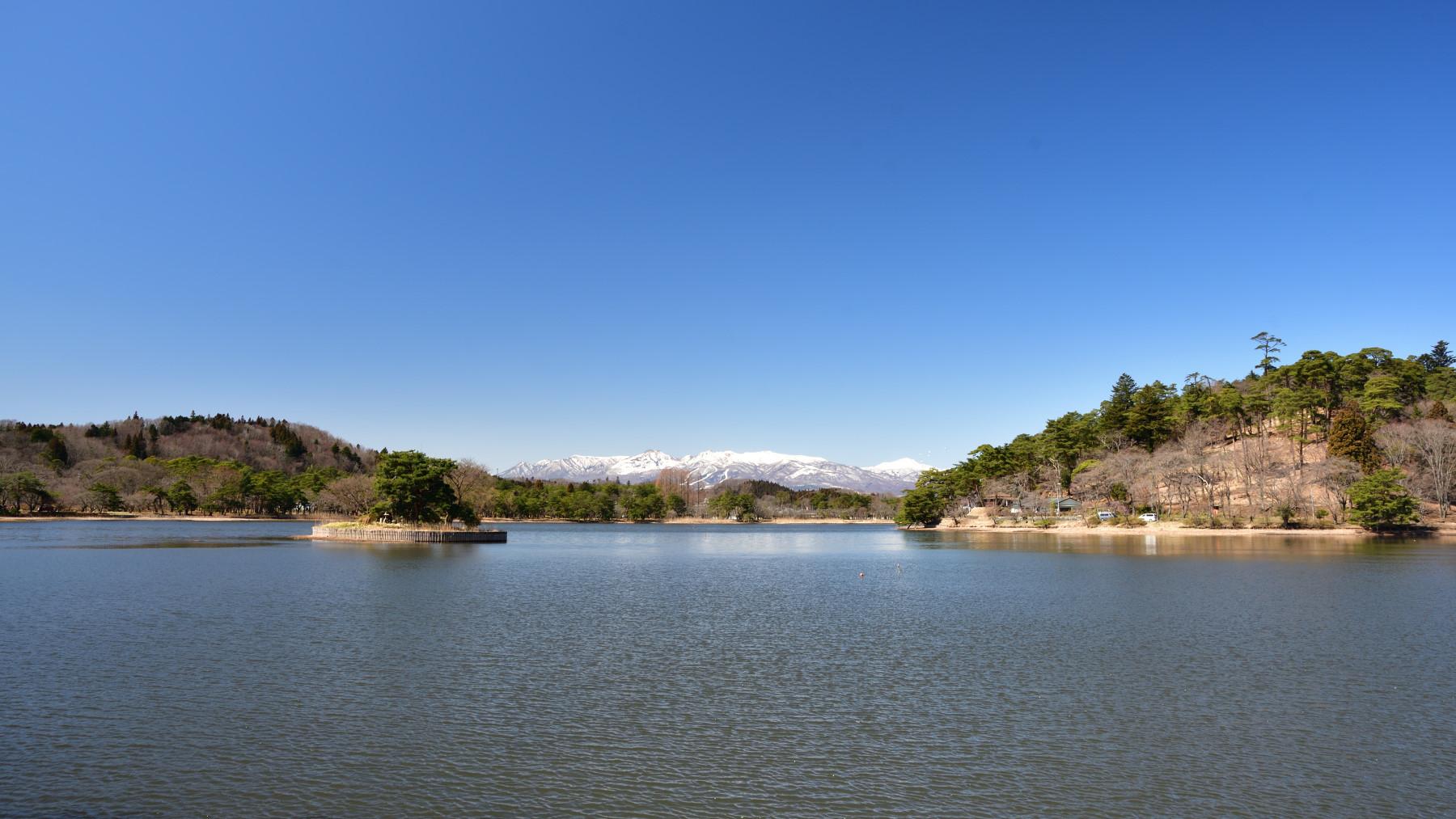 福島県白河市の南湖公園。