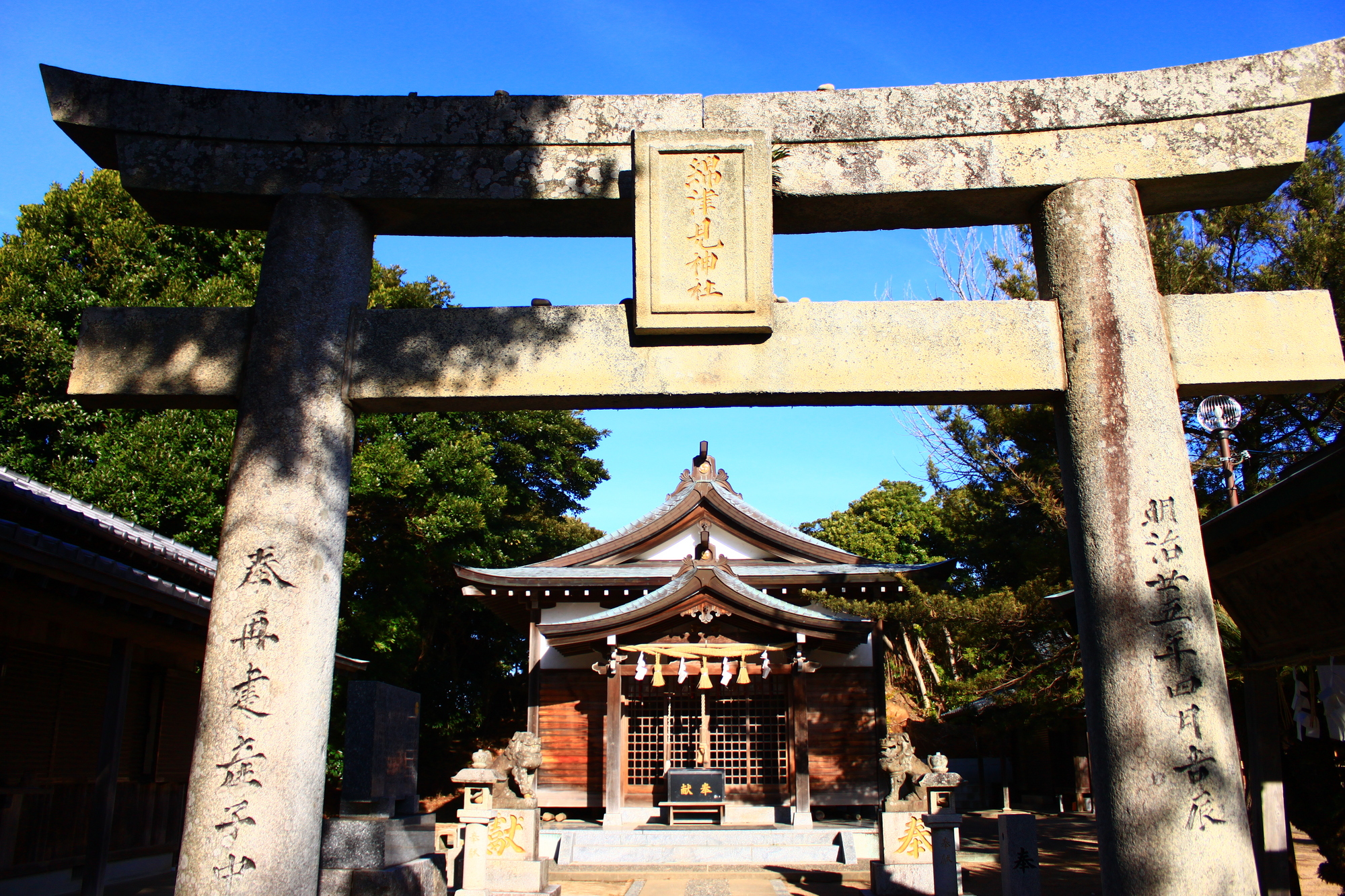 Watazumi-jinja Shrine, where a legend of Ryugu has been told since old times.